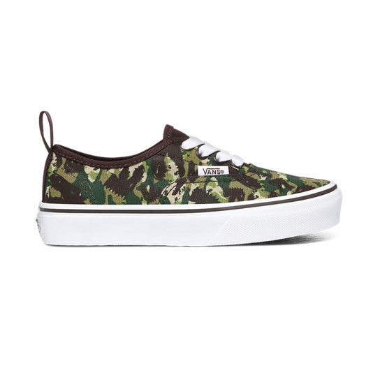 Kids Animal Camo Elastic Lace Authentic Shoes (4-8 years) | Vans