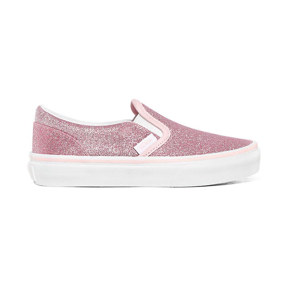 Chaussures Junior Glitter Classic Slip-on (4-8 Ans) ((glitter) Blushing Bride/true White) Enfant , Taille 31.5 - Vans - Modalova