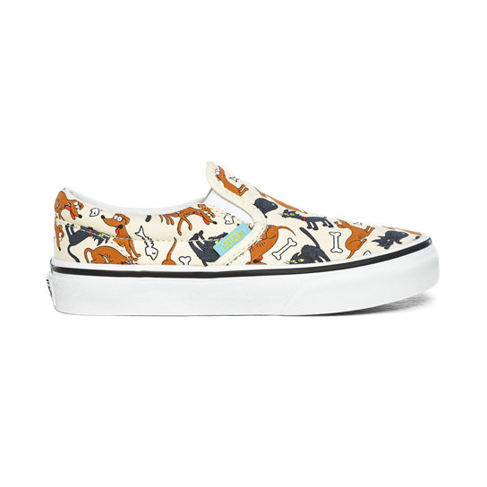 Kids The Simpsons x Vans Family Pets Classic Slip-On Shoes (4-8 years) | Vans