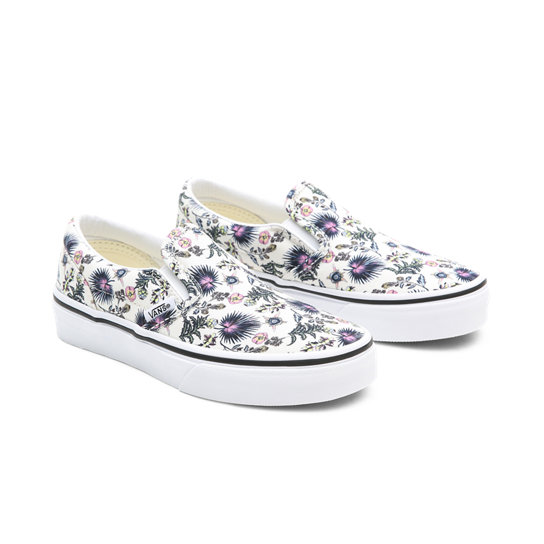 Kids Paradise Floral Classic Slip-On Shoes (4-8 years) | Vans