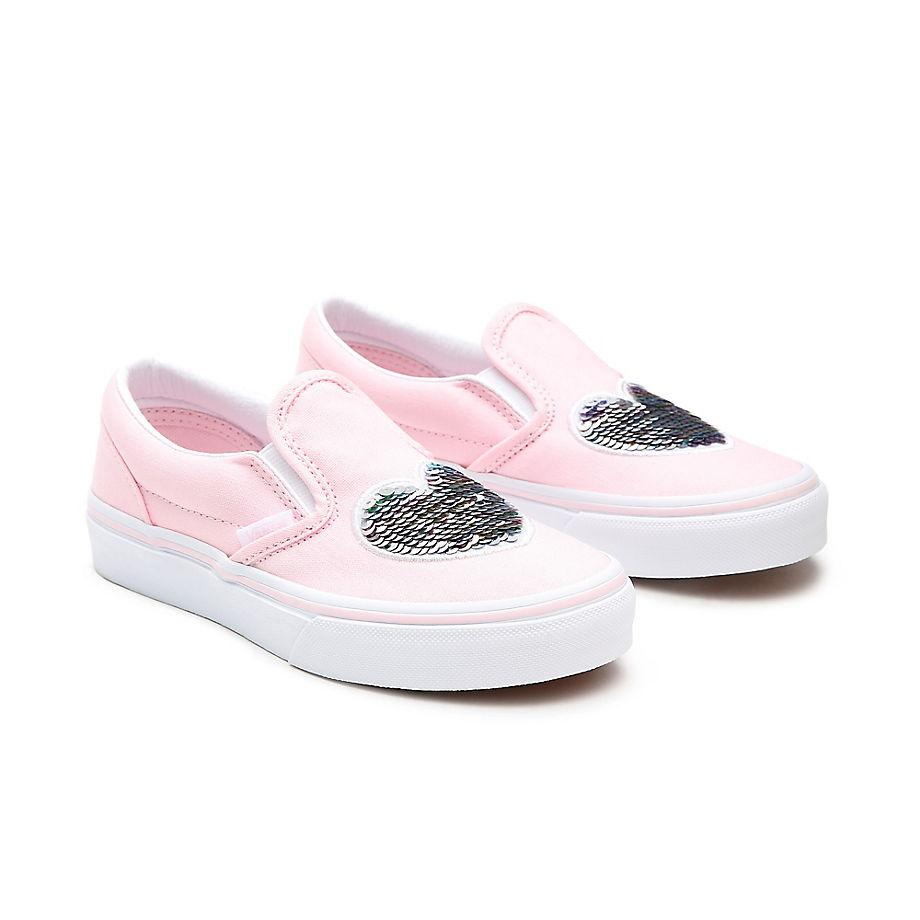 Chaussures Sequin Patch Classic Slip-on Enfant (4-8 Ans) ((sequin Patch) Blushing Bride/true White) Enfant , Taille 31.5 - Vans - Modalova