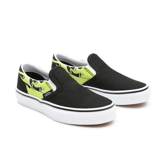 Chaussures Slime Flame Classic Slip-On Enfant (4-8 ans) | Noir | Vans