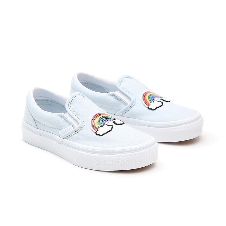 Chaussures Sequin Patch Classic Slip-on Enfant (4-8 Ans) ((sequin Patch) Ballad Blue/true White) Enfant , Taille 31.5 - Vans - Modalova