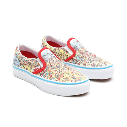 Vans+x+Waar+is+Wally%3F+Classic+Slip-On+Kinderschoenen+%284-8+jaar%29