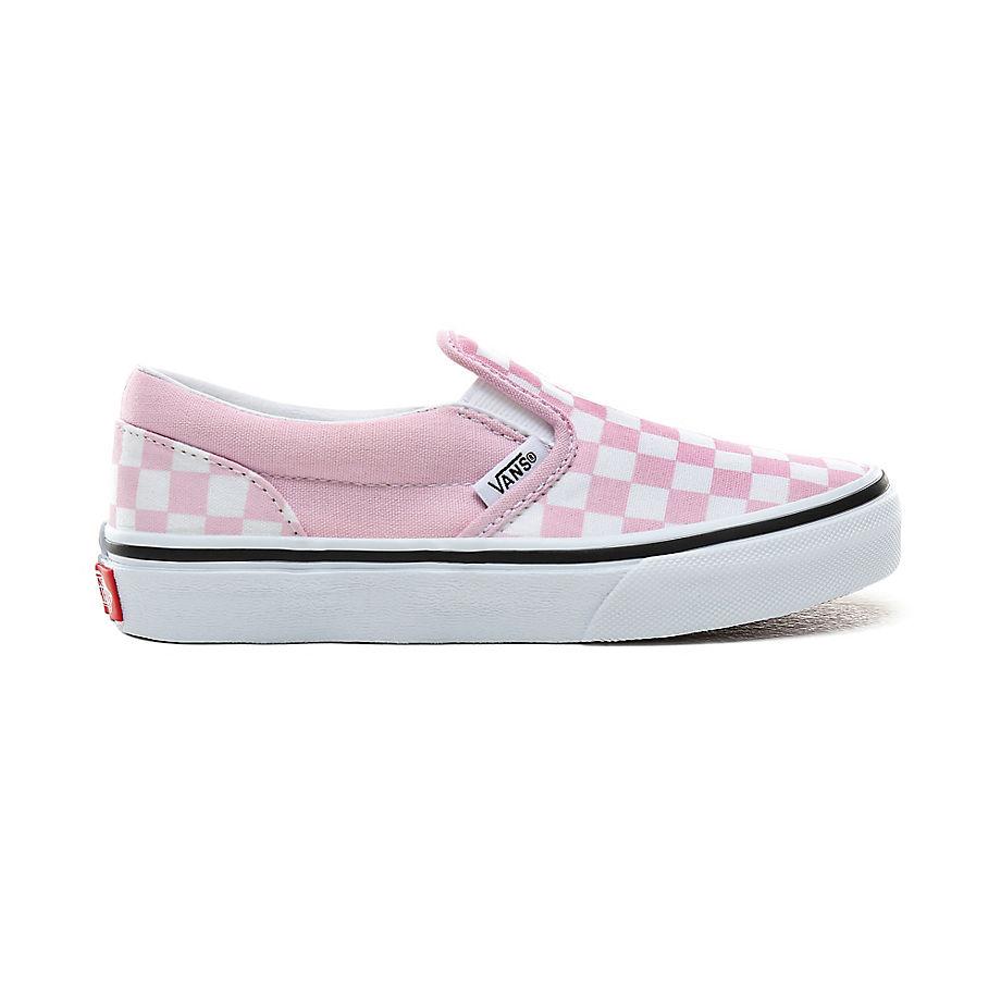 Chaussures Junior Checkerboard Classic Slip-on (4-8 Ans) ((checkerboard) Lilac Snow/true White) Enfant , Taille 31.5 - Vans - Modalova
