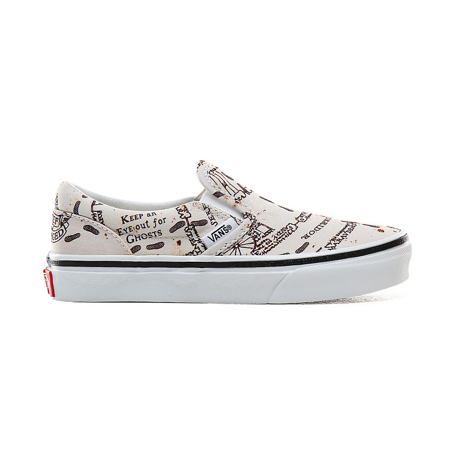 Chaussures Junior X Harry Potter™ Carte Du Maraudeur Slip-on (4-8 Ans) ((harry Potter) Marauders Map/classic White) Enfant , Taille 31 - Vans - Modalova