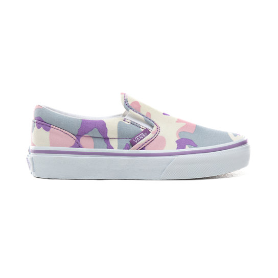 Kids Pastel Camo Classic Slip-On Shoes (4-8 years) | Vans
