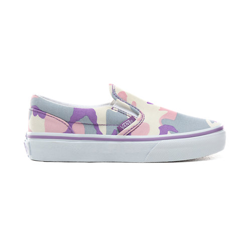 Kids+Pastel+Camo+Classic+Slip-On+Shoes+%285%2B+years%29