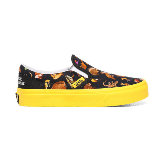 Vans x National Geographic Classic Slip-On kinderschoenen (4-8 jaar) | Vans