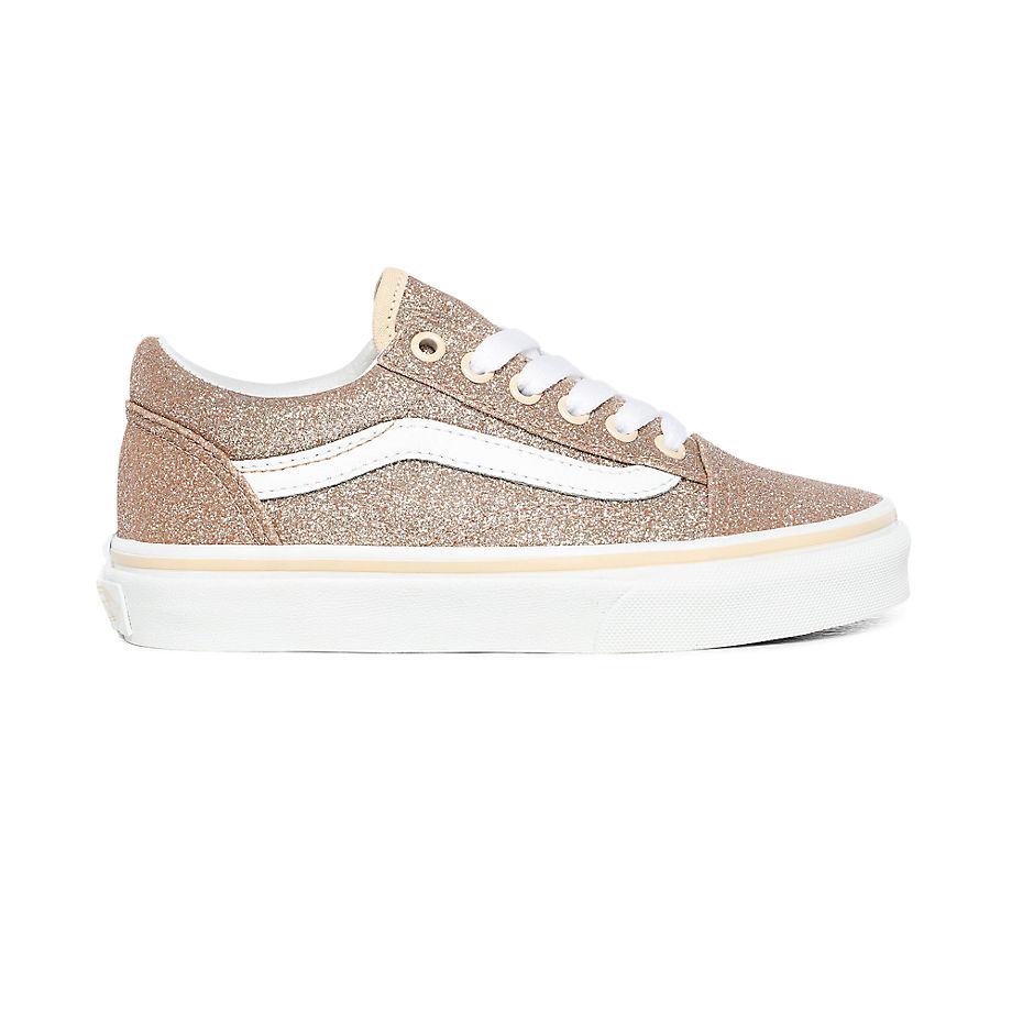 Chaussures Junior Glitter Old Skool (4-8 Ans) ((glitter) Brazilian Sand/true White) Enfant , Taille 31.5 - Vans - Modalova