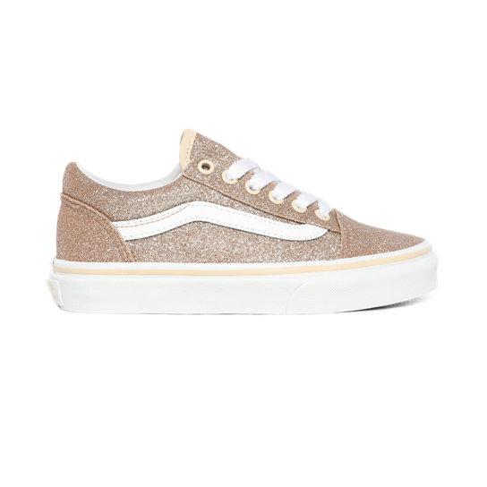 Chaussures Junior Glitter Old Skool (4-8 ans) | Rose | Vans