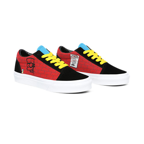 Kids+The+Simpsons+x+Vans+El+Barto+Old+Skool+Shoes+%284-8+years%29