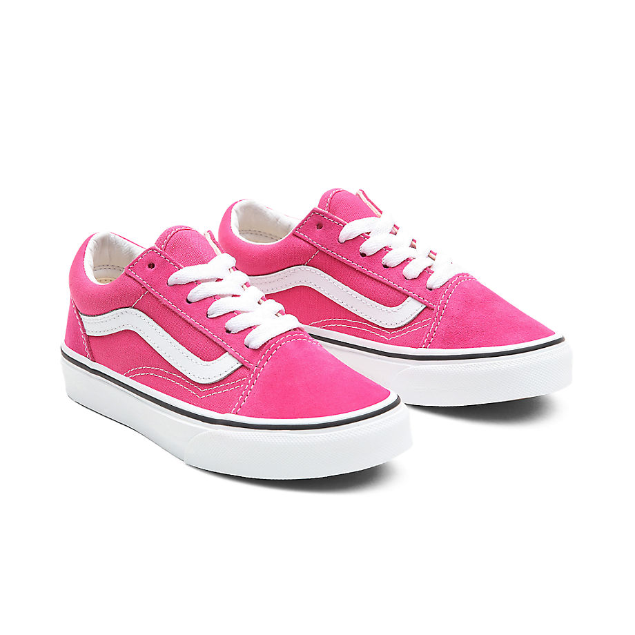 Chaussures Junior Old Skool (4-8 Ans) (fuchsia Purple/true White) Enfant , Taille 31.5 - Vans - Modalova