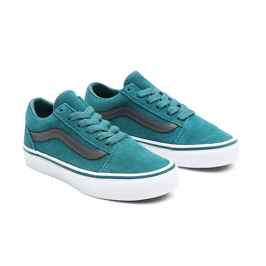Sneaker Vans VANS Zapatillas Old Skool En Ante De Niños (4-8 Años) ((suede) Shaded Spruce/asphalt) Niños Verde