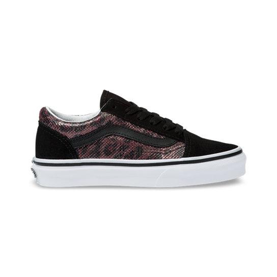 Kids Leopard Mesh Old Skool Shoes (4 8 years)