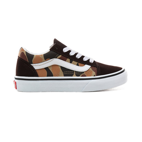 Kids Vintage Camo Old Skool Shoes (4 8 years)