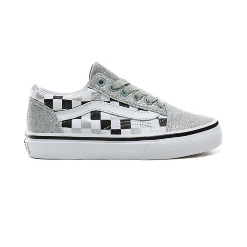 Chaussures+Junior+Glitter+Checkerboard+Old+Skool+%285%2B+ans%29