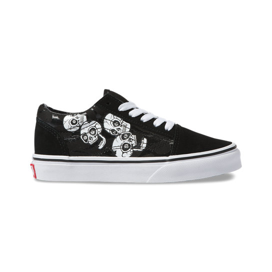 Chaussures Junior Glossy Flame Old Skool (4 8 Ans)