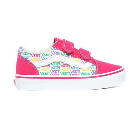 Kids Rainbow Vans Old Skool V Shoes (4-8 years) | Vans