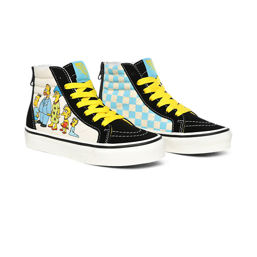Chaussures+Junior+1987-2020+Sk8-Hi+Zip+The+Simpsons+x+Vans+%284-8+ans%29