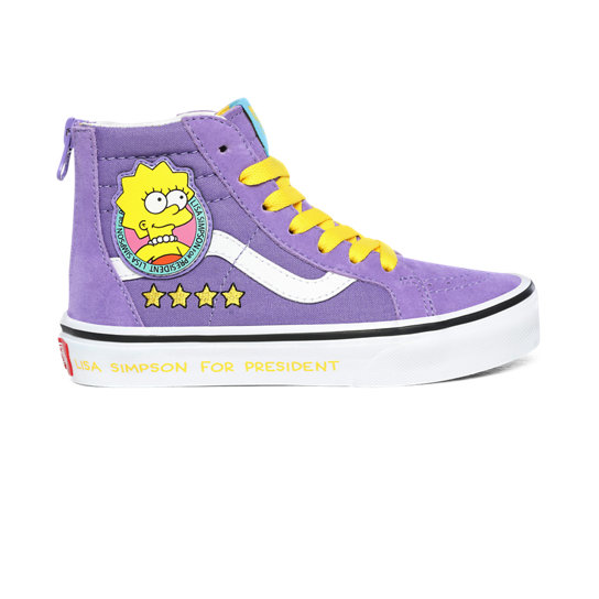 Kids The Simpsons x Vans Lisa 4 Prez Sk8-Hi Zip Shoes (4-8 years) | Vans