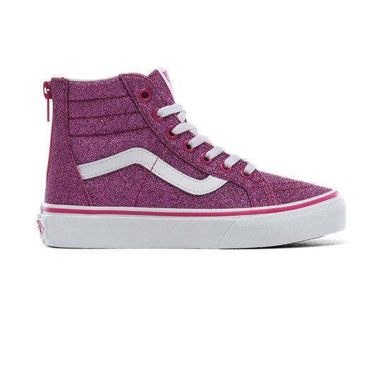 Kids Glitter Textile Sk8 hi Shoes (4 8 years)