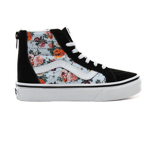 Kids+Garden+Floral+Sk8-Hi+Zip+Shoes+%285%2B+years%29