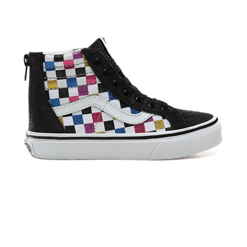 Chaussures+Junior+Glitter+Checkerboard+Sk8-Hi+Zip+%285%2B+ans%29