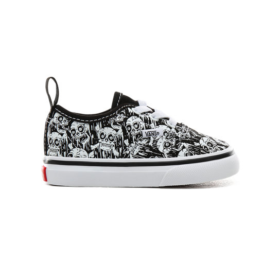 Zapatillas Glow-in-the-dark Skulls Authentic Elastic Lace de bebé (1-4 años) | Vans