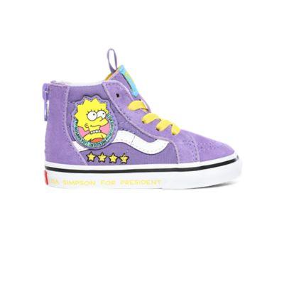 Chaussures Enfant Lisa 4 Prez Sk8-Hi Zip The Simpsons x Vans (1-4 ...