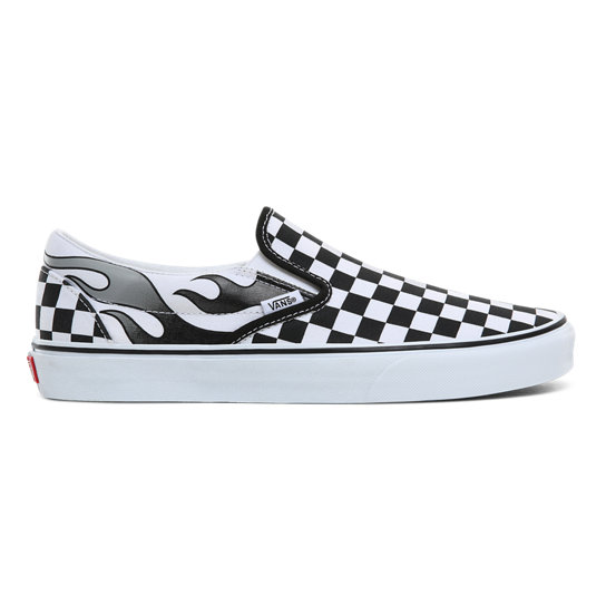 Checkerboard Flame Classic Slip-On Shoes | Vans