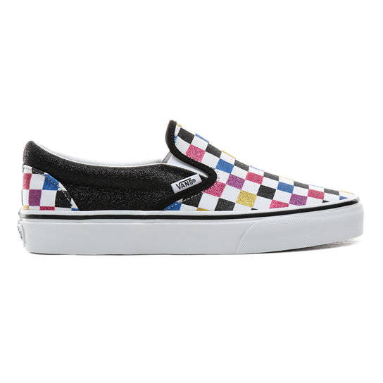 Chaussures Glitter Checkerboard Classic Slip-On | Vans
