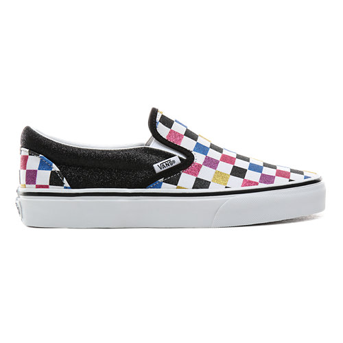 Scarpe+Checkerboard+Classic+Slip-On+con+glitter