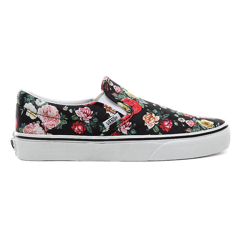 VANS Chaussures Garden Floral Classic Slip-on ((garden Floral) Black/true White) Femme Noir, Taille