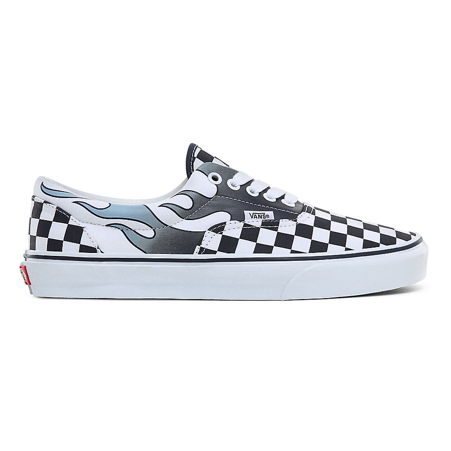 VANS Chaussures Checkerboard Flame Classic ((checkerboard Flame) Parisian Night/true White) Femme Na