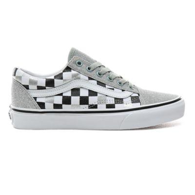 Scarpe Checkerboard Old Skool con glitter