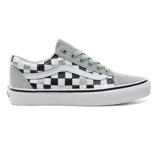 Scarpe Checkerboard Old Skool con glitter