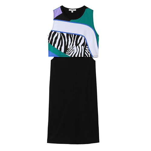 Zebra+Sunset+Muscle+Kleid