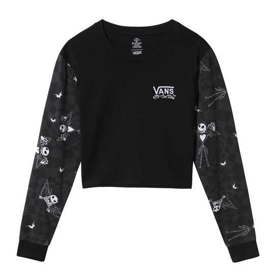Disney x Vans Jacks Check Long Sleeve Crop T-shirt | Vans