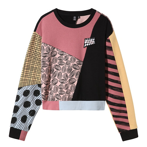 Disney+x+Vans+Sally+Patchwork+Crew+Sweater
