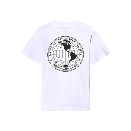 T-shirt+Vans+x+National+Geographic+Globe+Petits+%282-8+ans%29