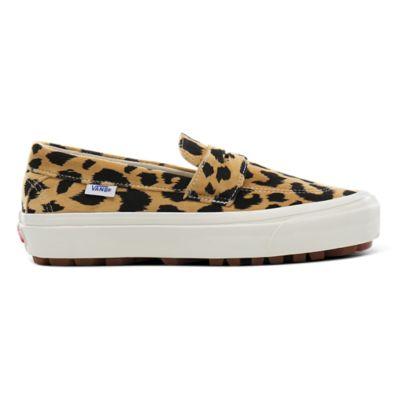 khaki vans with leopard print