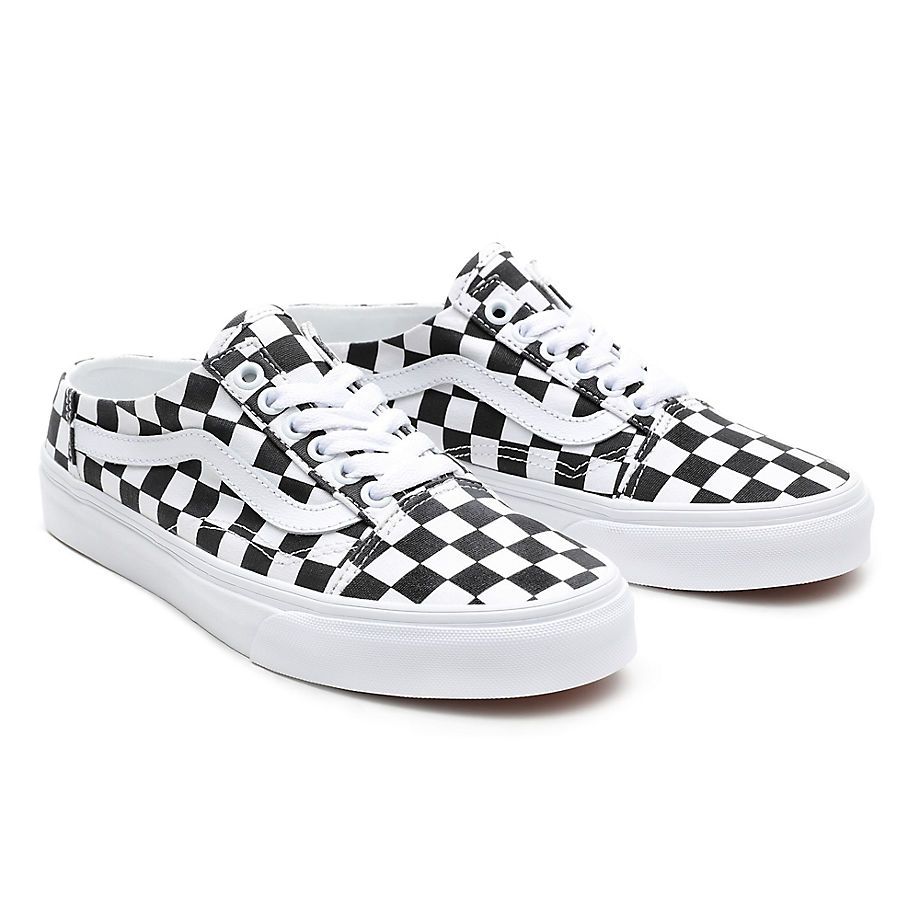 VANS Chaussures Checkerboard Old Skool Mule ((checkerboard) Black/true White) Femme Noir, Taille 46