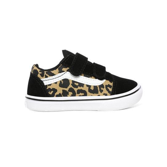 Chaussures Enfant Leopard ComfyCush Old Skool V (1-4 ans) | Noir ...
