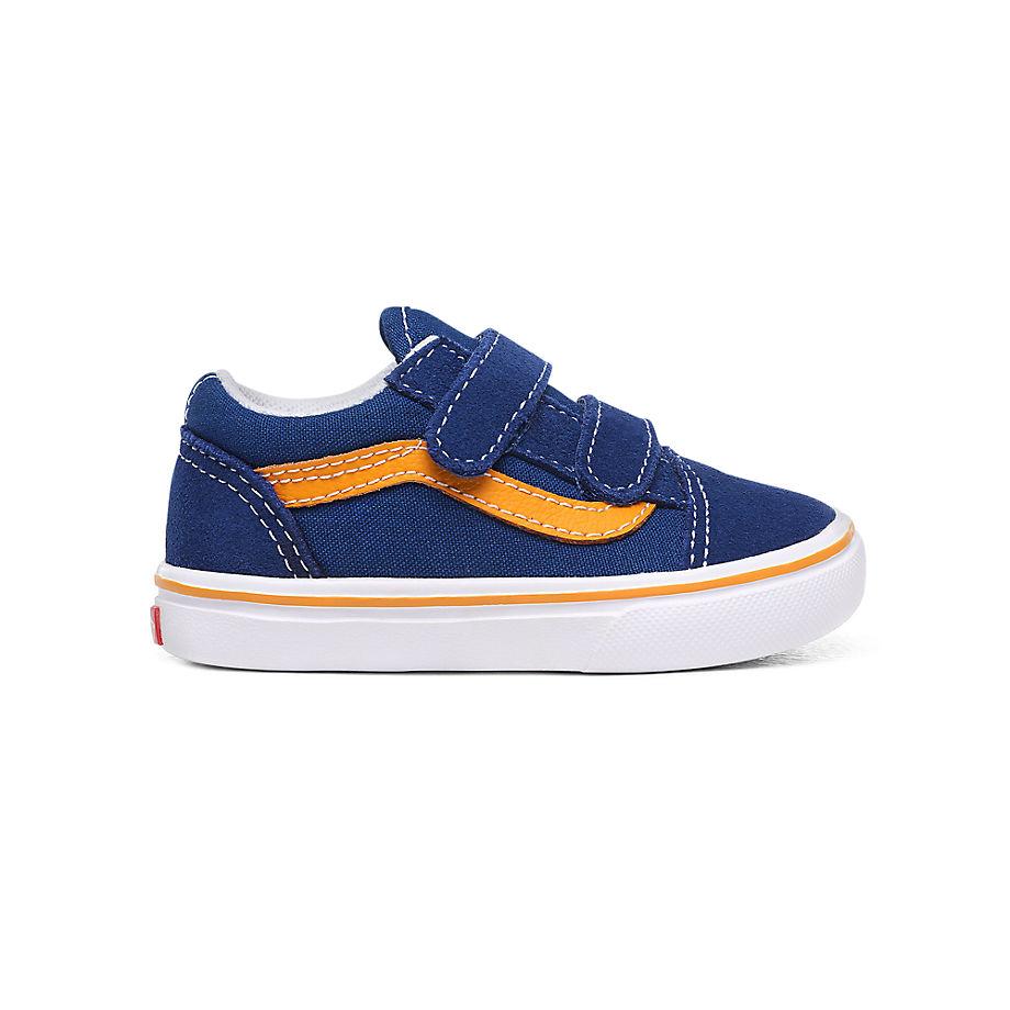 VANS Chaussures Enfant Pop Comfycush Old Skool V (1-4 Ans) ((pop) True Blue/cadmium Yellow) Toddler
