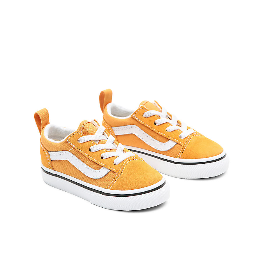 Sneaker Vans VANS Zapatillas Old Skool Con Cordones Elásticos De Bebé (1-4 Años) (golden Nugget/true White) Toddler Amarillo