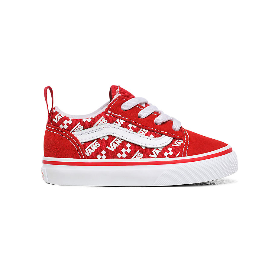 VANS Chaussures Logo Repeat À Lacets Élastiques Old Skool Enfant (1-4 Ans) ((logo Repeat) Racing Red