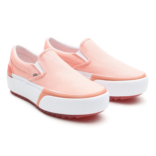 Chaussures Pastel Classic Slip-On Stacked | Rose | Vans