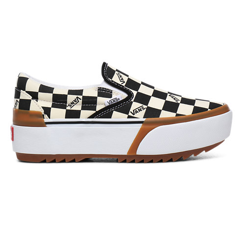 Checkerboard+Classic+Slip-On+Stacked+Shoes