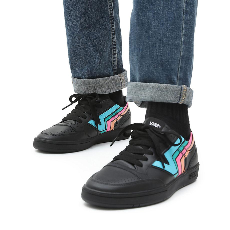 Vans Fader Lowland Comfycush Shoes ((fader) Black/multi) Women ...
